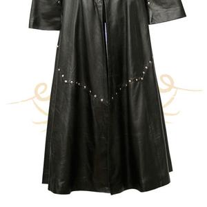 Готическая одежда кожаный плащ